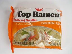 Dried Top Ramen Packet