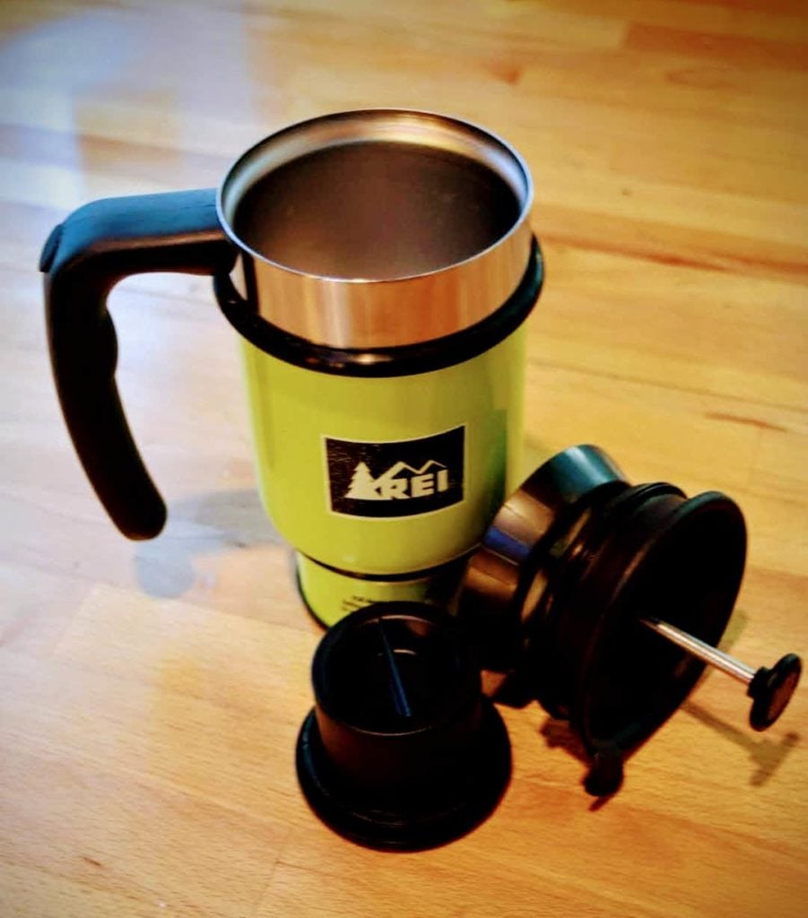 REI Single Serve French Press Mug