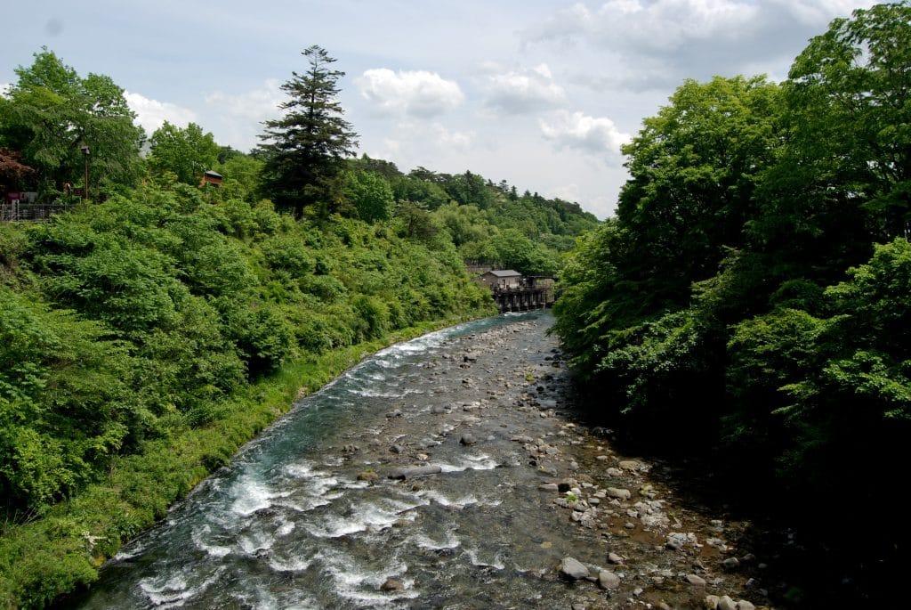 River running through Nikko Japan