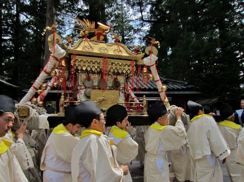 Carrying shrine in Nikko Spring Festival