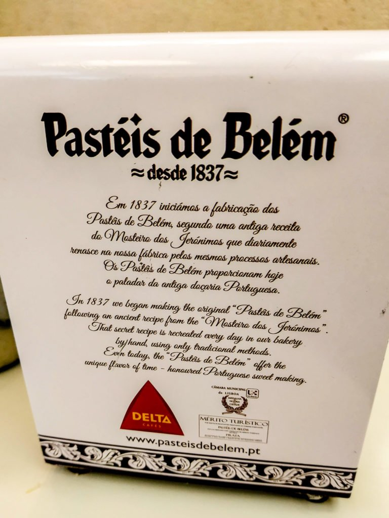 Pasteis de Belem history