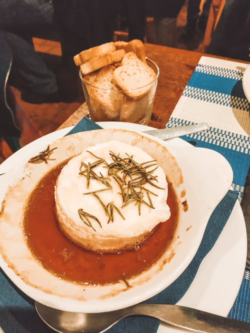 Baked Goat Cheese with Honey and Rosemary
