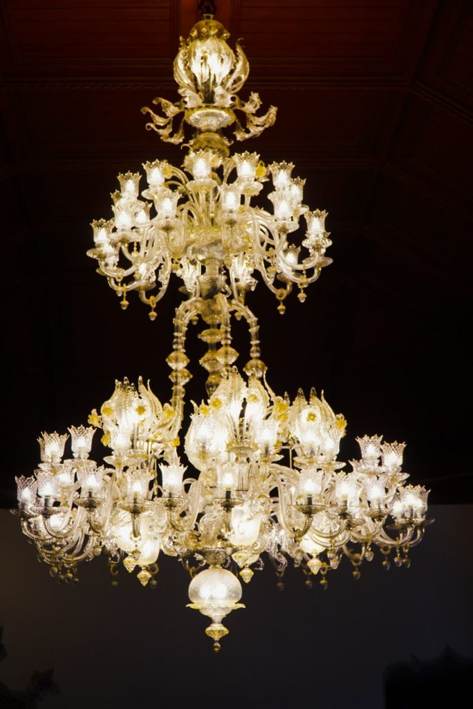 Murano glass chandelier at Palace of Sintra