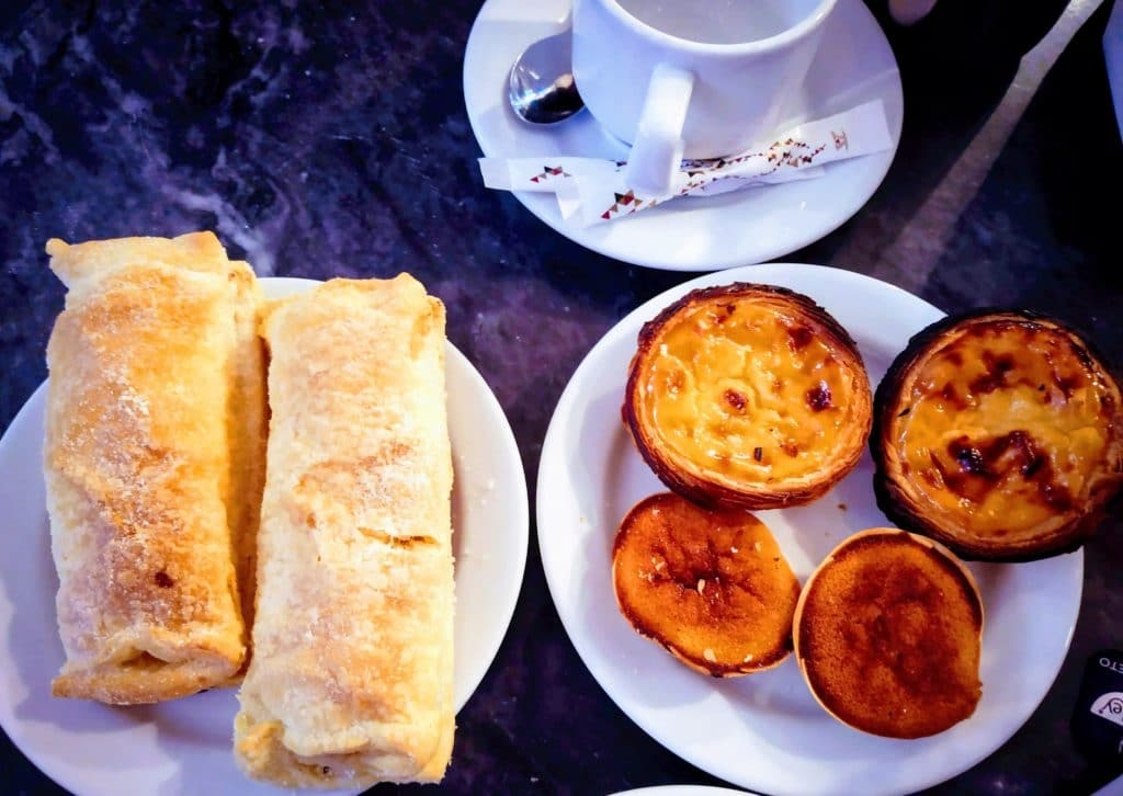 Pasteis de nata and pastries in Sintra Portugal