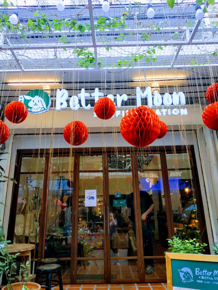 Better Moon x Refill Station Cafe front door
