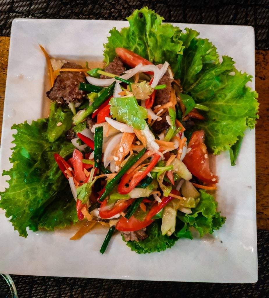 Thailand's crying tiger spicy beef salad