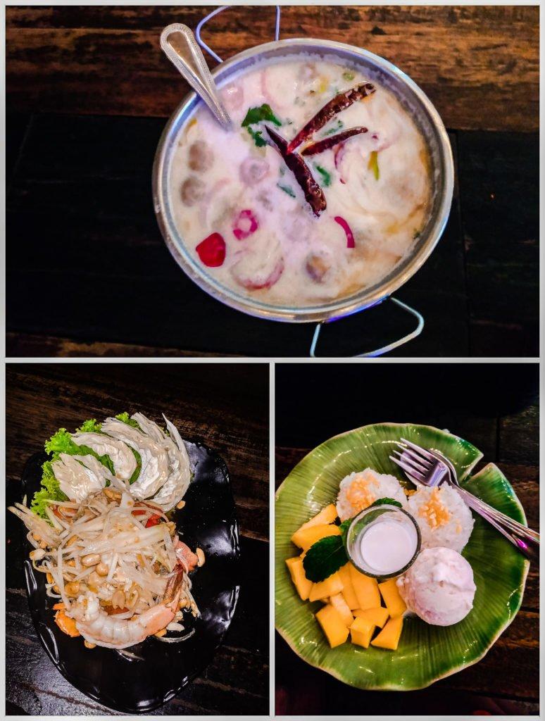 Dinner at Thai restaurant in Thailand