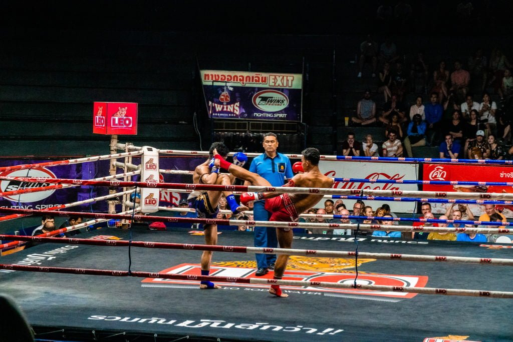 Muay Thai fight in Bangkok Thailand