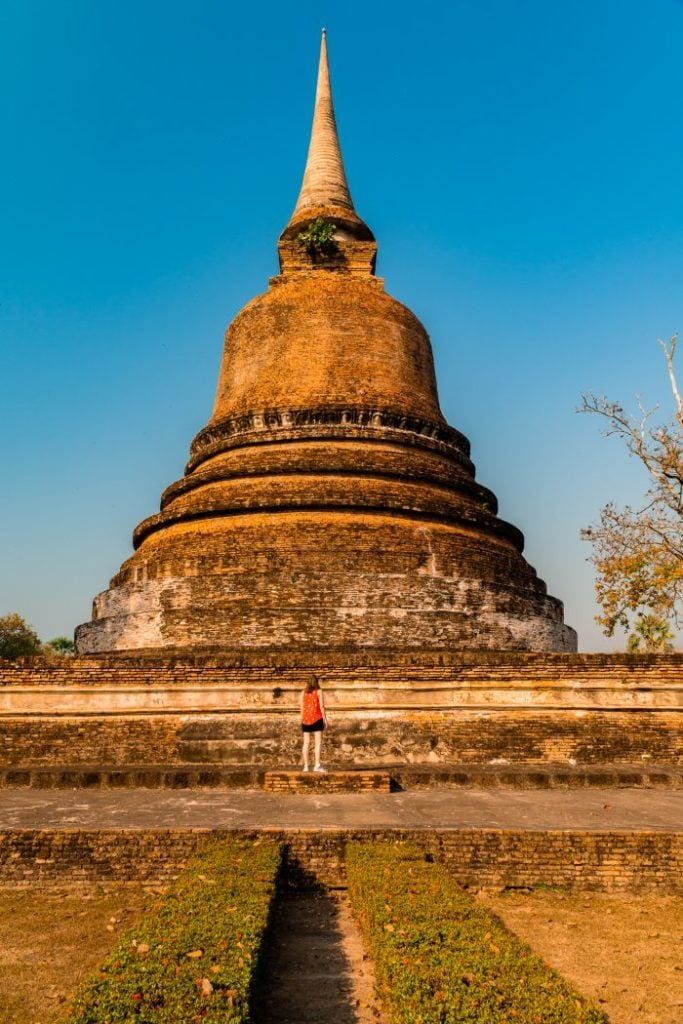 Tall temple at Sukhothai Historical Park