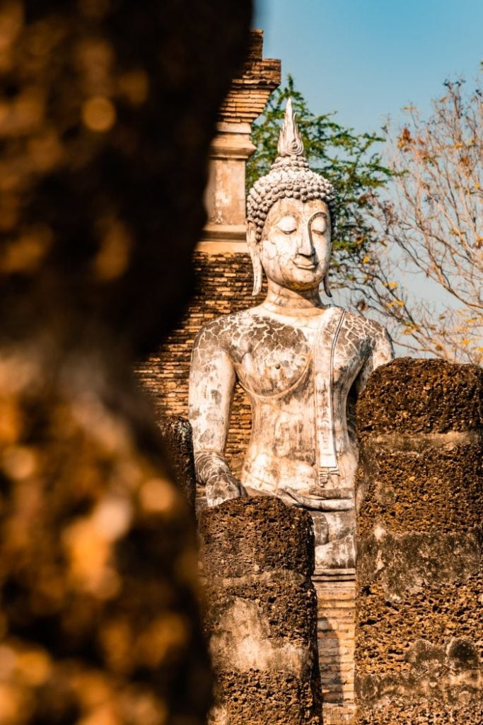 Ancient buddah statue in Sukhothai