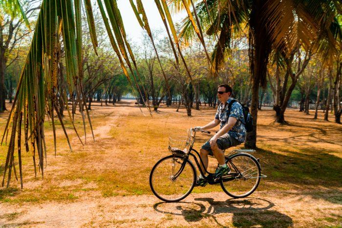 Biking in Sukhothai Historical Park