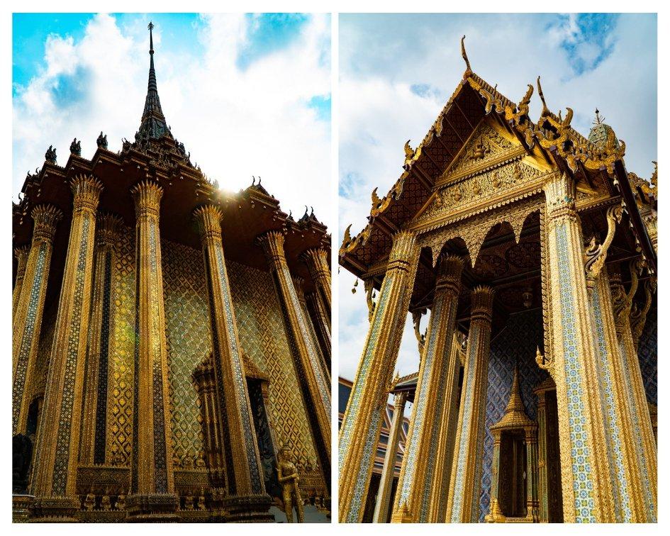 Golden architecture at the Grand Palace Bangkok