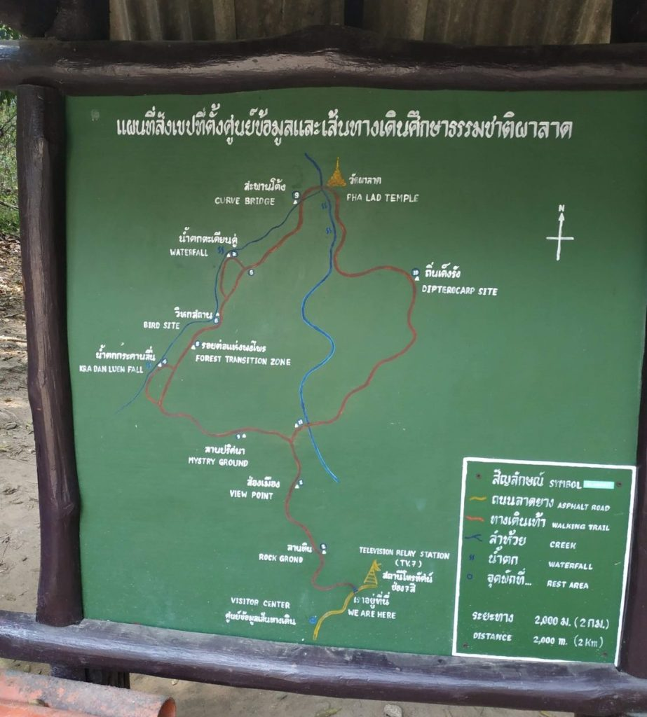 Chiang Mai Monk's Trail hiking sign