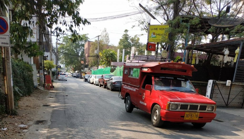 Red Truck Taxi Songthaew