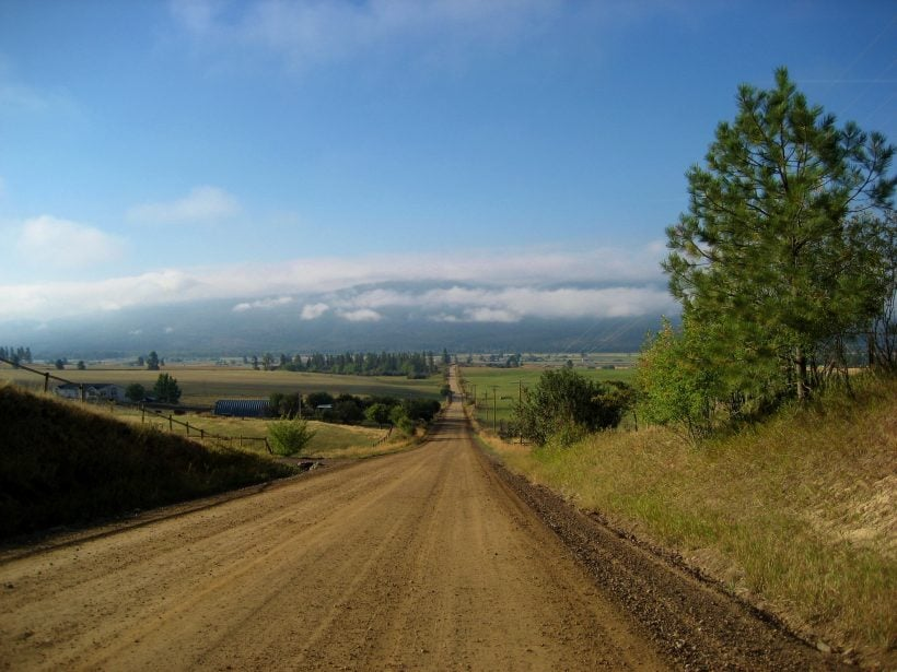 Dirt Road in Montana Travel Somewhere