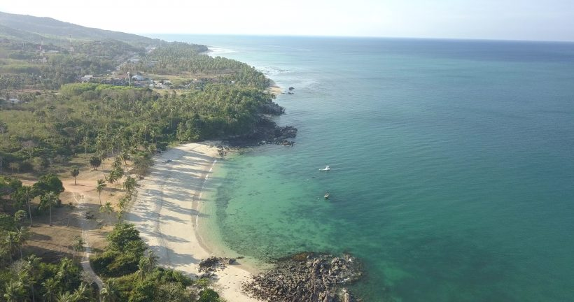 Photo of beach from drone