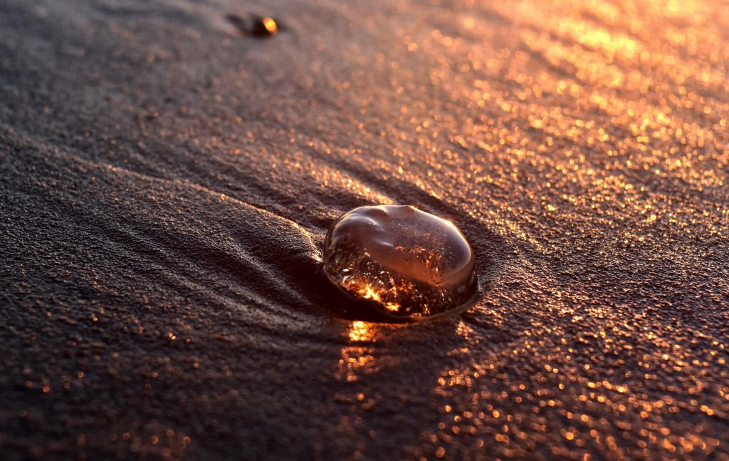 Water Droplet on the Beach