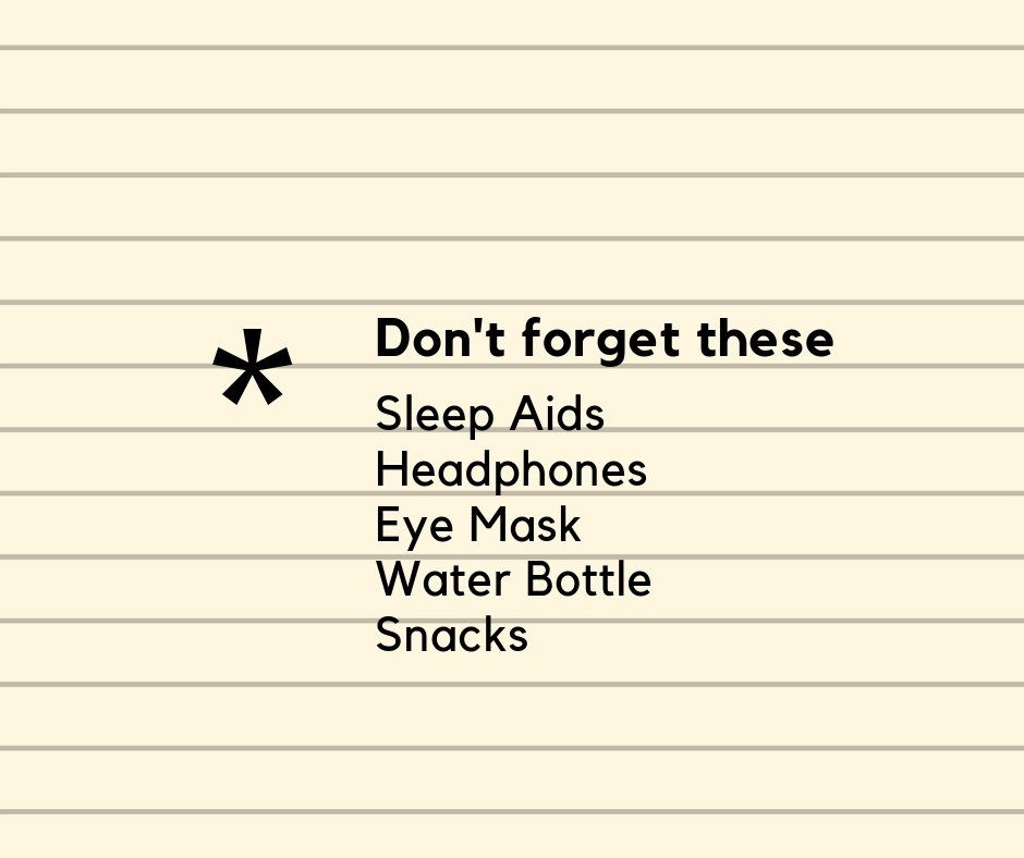 items to bring to help avoid jet lag
