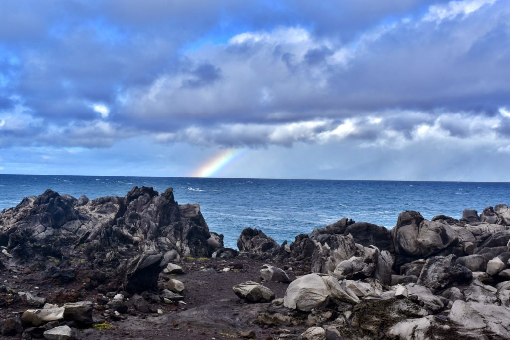 rainbow on Kapalua Coastal Trail