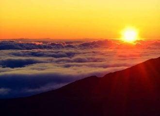 Sunrise at Haleakala National Park Maui