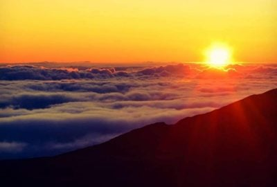 Sunrise at Haleakala National Park Maui