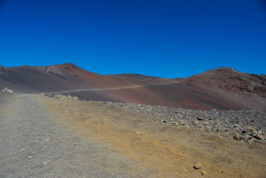 Sandy crater trail of Haleakala