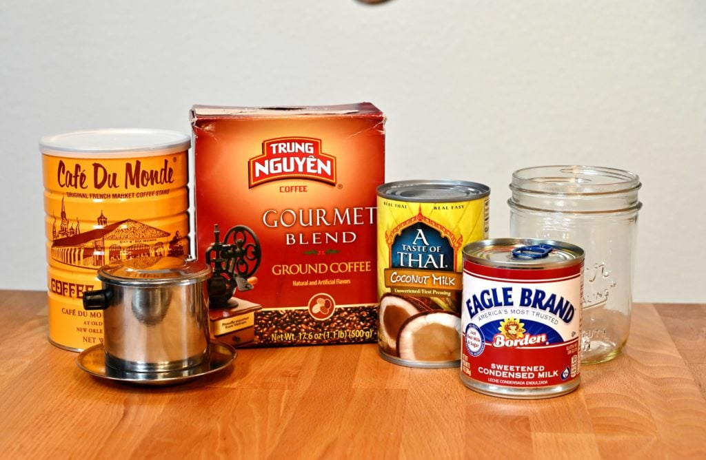 Vietnamese coconut coffee ingredients