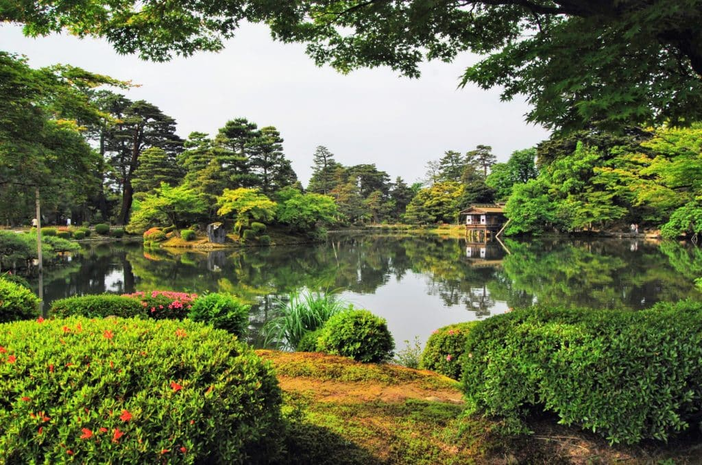 Kenroku-en Garden in Kanazawa Japan