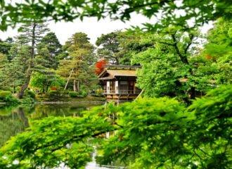 teahouse in Kenroku Garden Kanazawa Japan