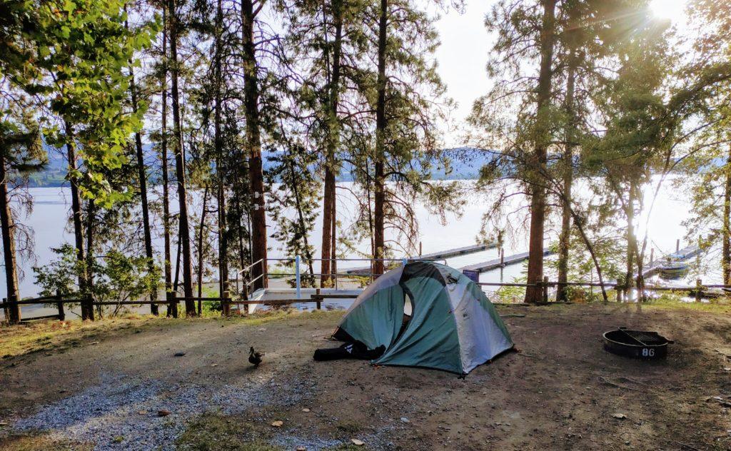 Lake Chelan State Park Campsite