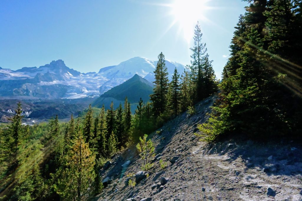 Emmons Moraine Glacier at Mount Rainier