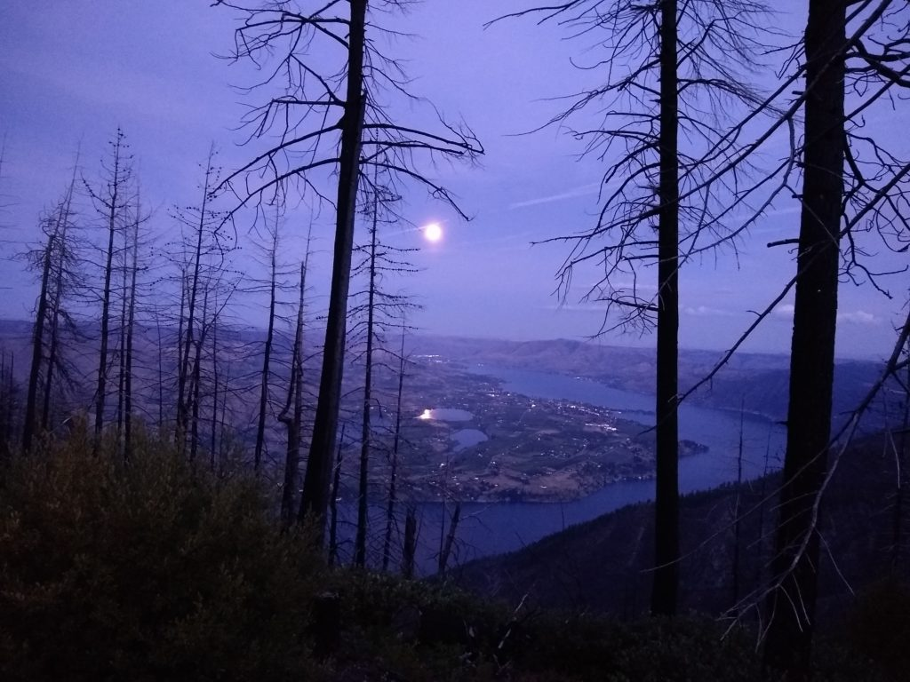 View of Lake Chelan at Dusk from the Washington Backcountry Discovery Route