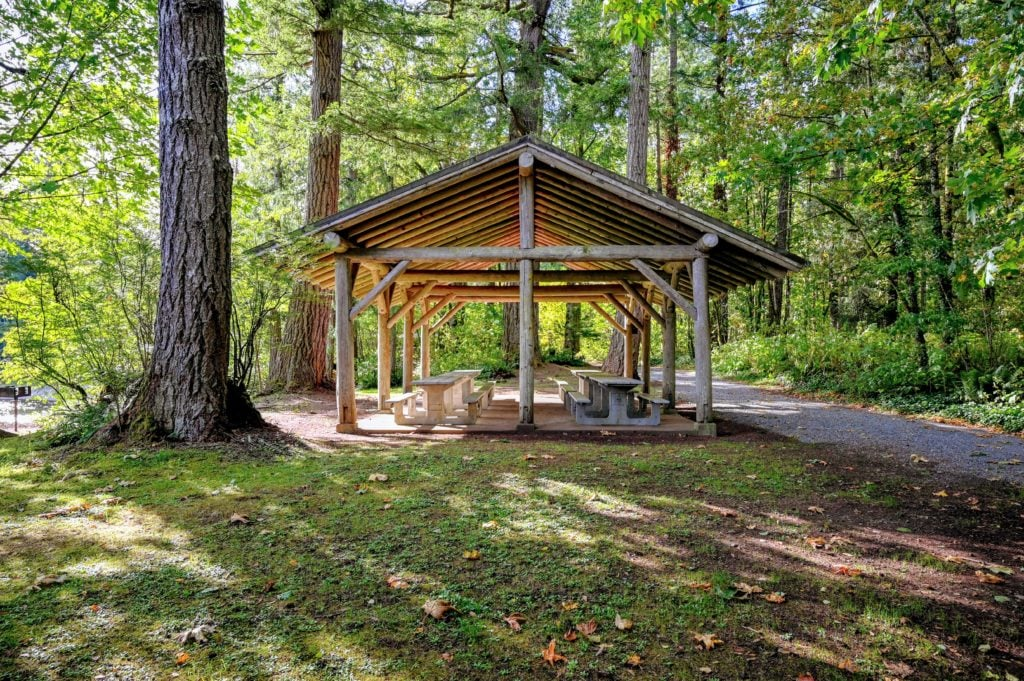 Group picnic shelter at Nolte State Park