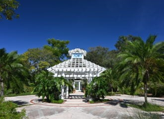 White pavilion at Leu Gardens