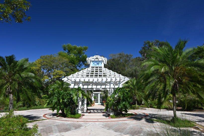 White pavilion at Leu Gardens
