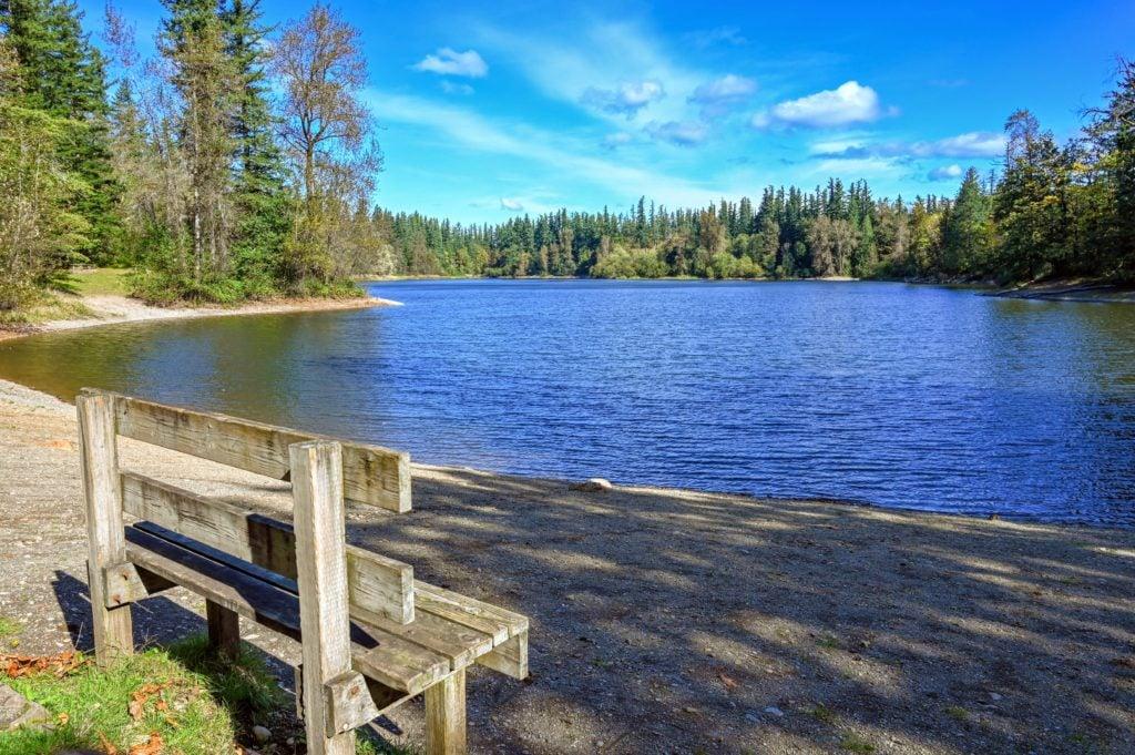 Bench next to Deep Lake