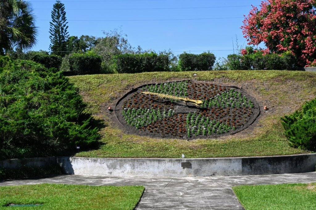 floral clock in Leu Gardens