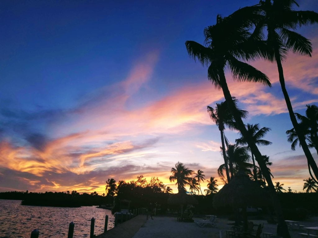 Sunset on Islamorada in Florida Keys