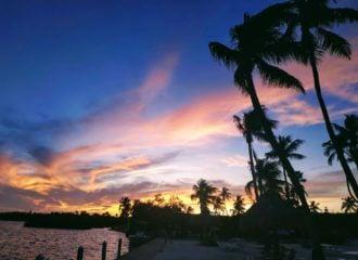 sunset on Islamorada Florida Keys