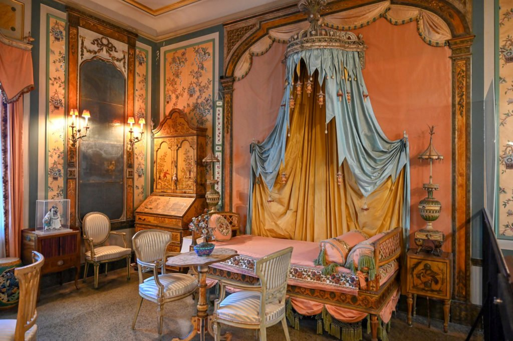 Antique Furnished room in the Vizcaya Museum