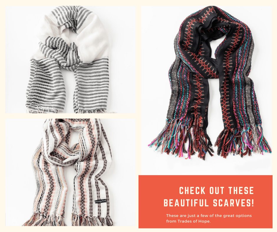 scarves from Trades of Hope