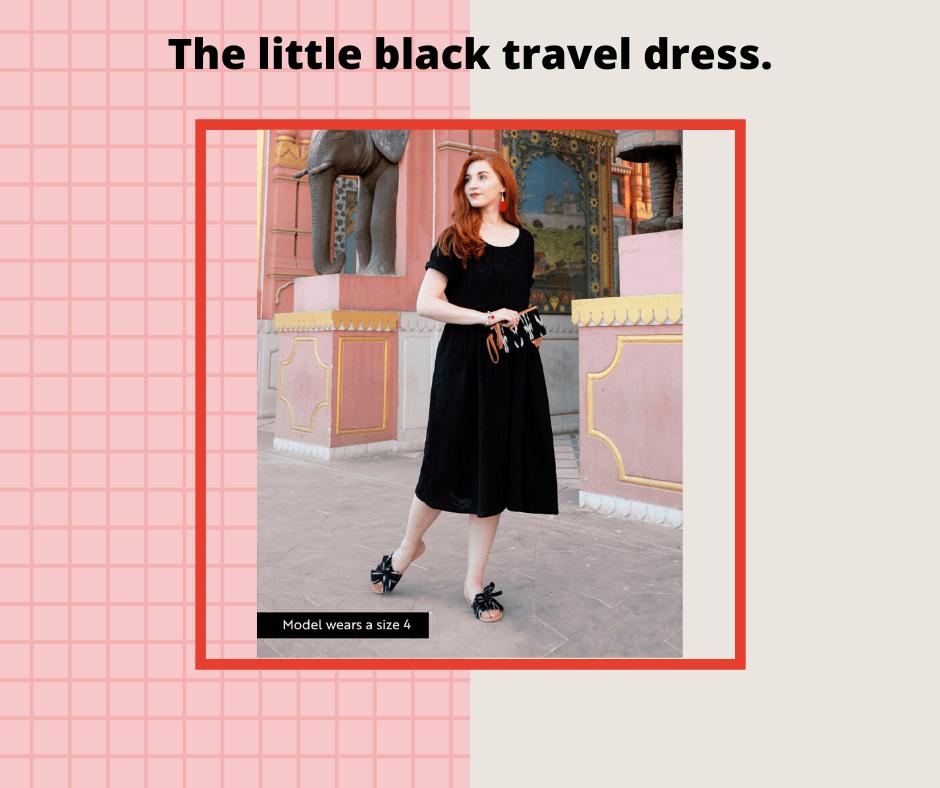 black travel dress