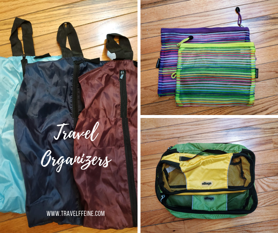 travel organizers and packing cubes