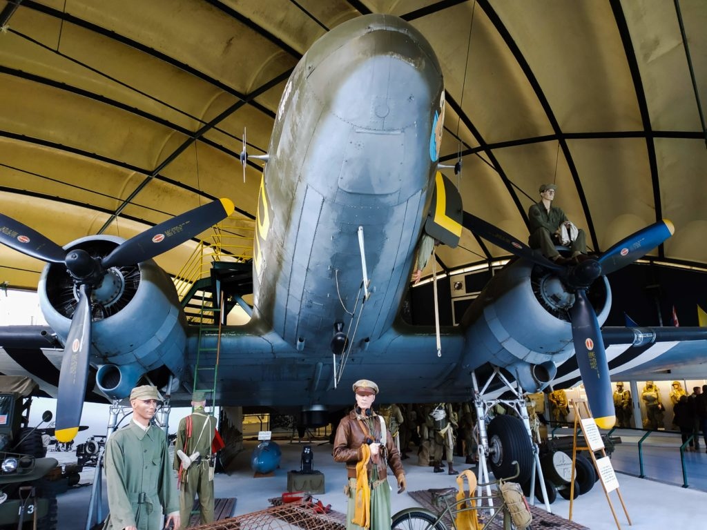 Airplane replica at Airborne Museum D-Day Normandy