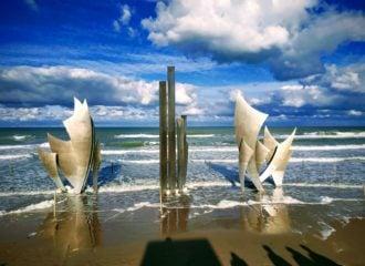 memorial at Omaha Beach Normandy France