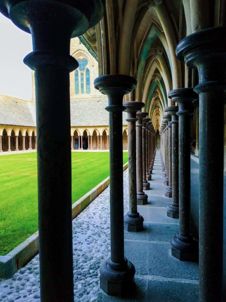 The cloister at Mont-Saint-Michel Abbey