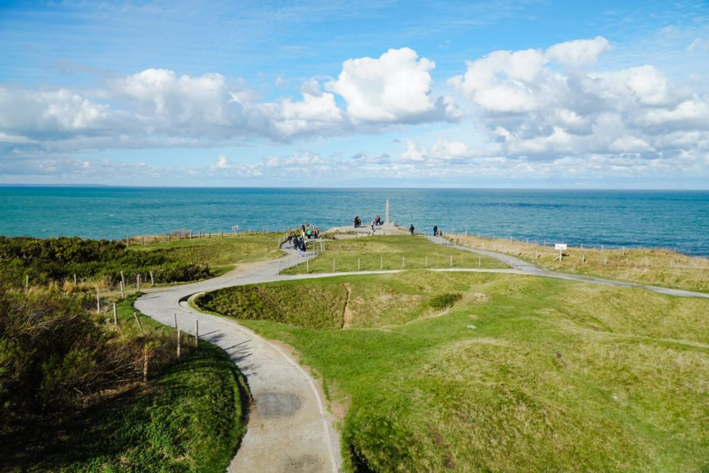 The walkway to Pointe du Hoc