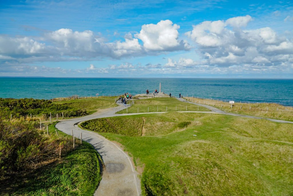 Path to the memorial for fallen Rangers at Pointe du Hoc