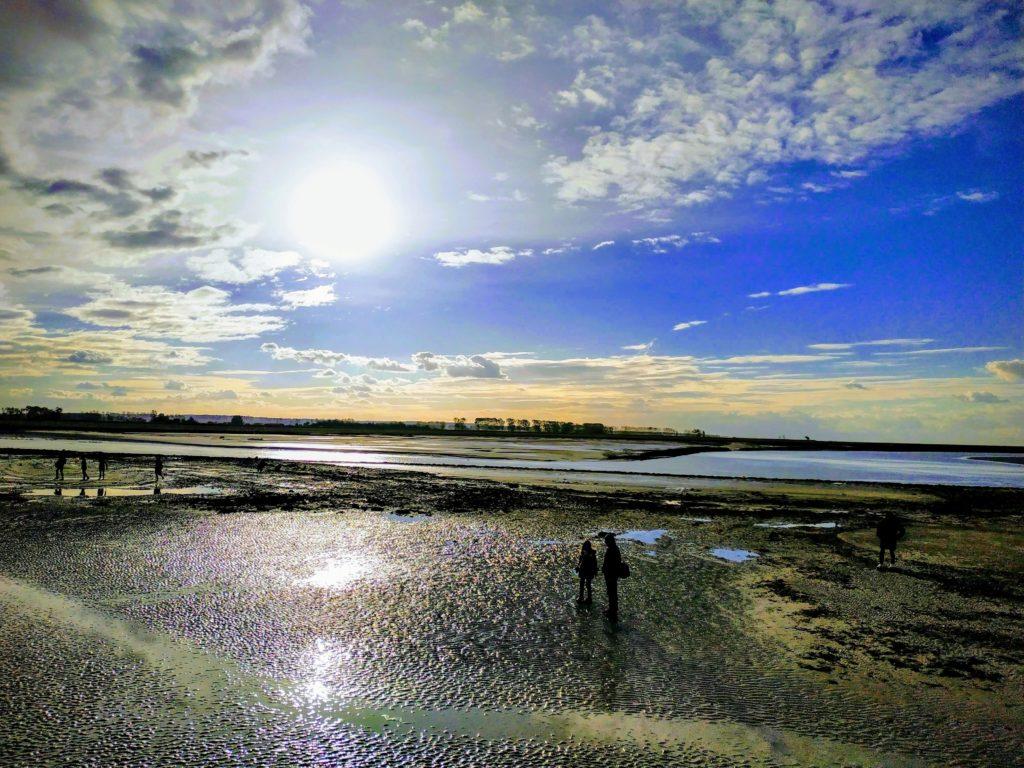 mont-saint-michel bay at low tide