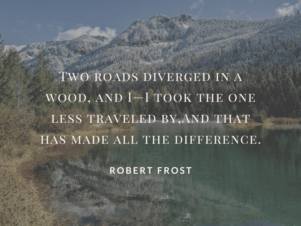 two roads diverged poem by robert frost